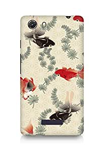 Amez designer printed 3d premium high quality back case cover for Micromax Unite 3 (Designer Fishes)