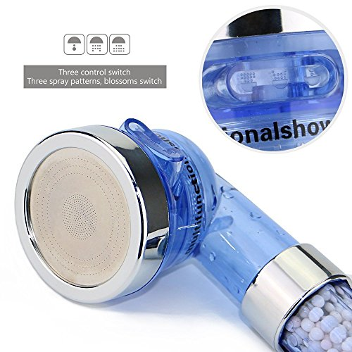 efluky mano la cabeza de ducha de agua Ahorro jónico cloro Filtro Filtración Duchas Cabeza universal Ducharse componentes 3-Way spray ducha de mano de alta presión de la ducha de mano (ducha)