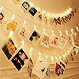 SHOPPOSTREET Photo Clip Lights Indoor Outdoor Decoration Christmas Light Rope for Party, Birthday, Diwali, Christmas, Navratri(20 Clip LED Light Pack 1)