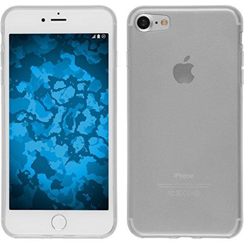 Coque en Silicone pour Apple iPhone 7 - transparent rose - Cover PhoneNatic Cubierta + films de protection Transparent