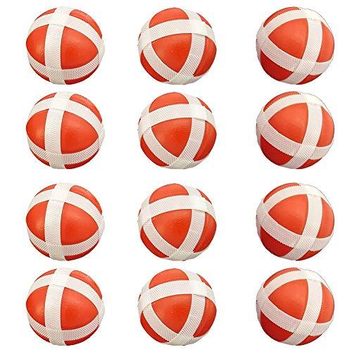 Homclo Klettbälle dartscheibe, Kinder Darts erstaz Bälle Spiel Spielzeug Ersatzbälle Klett Klettspiel für Kleinkind 12 Stück