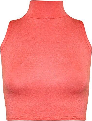 The Home of Fashion Damen Top, Einfarbig Mehrfarbig Mehrfarbig Korallenrot