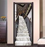 XIAOXINYUAN DIY 3D Tür Aufkleber Simulation Treppe PVC Abnehmbare Wasserdichte Türen Wandaufkleber Für Zimmer Schlafzimmer Wohnkultur