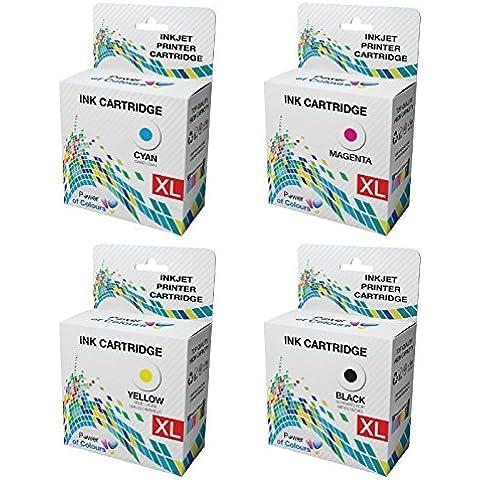 [Set] = 4 Cartucce d'inchiostro Sostituzione per Lexmark S315, S415,