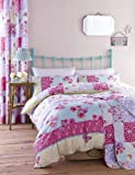 Catherine Lansfield Gypsy Patchwork Cotton Rich Single Quilt Set Multi