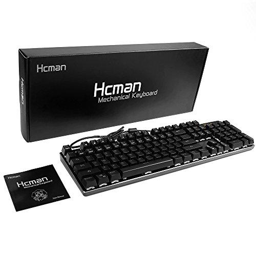 098e37bae86 RGB LED Mechanical Gaming Keyboard - Hcman USB Wired Backlit ...