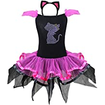 FEESHOW Gato Rosa Bailarina Chicas Sofisticado Vestido Fiesta Disfraz De Animal Para Niña