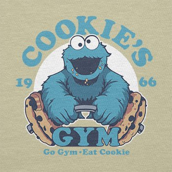 Texlab – Cookie s Gym – sacchetto di stoffa Naturale