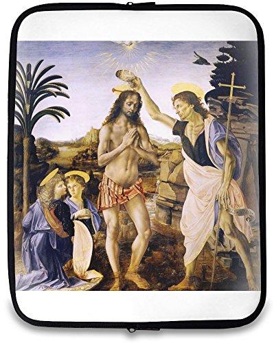 The Baptism of Christ Leonardo da Vinci Painting Stampa per Computer 15