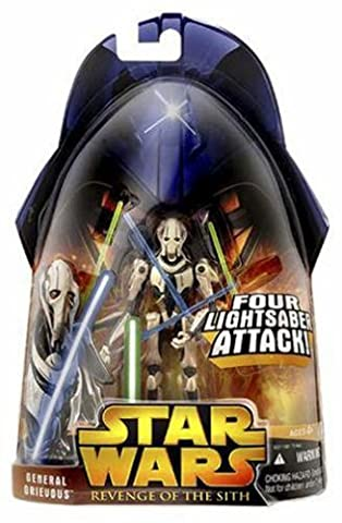 General Grievous 4 Lightsaber Attack No.9 - Star Wars Revenge of the Sith Collection 2005 von Hasbro