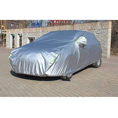 KIMISS Universale Traspirante Copertura auto completa Monostrato Impermeabile Antipolvere Tessuto non tessuto Auto Outdoor Protezione solare Anti-inquinamento Cover 3 Taglie Bianco M