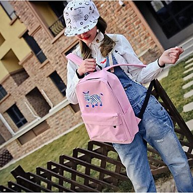 Frauen Rucksack PU All Seasons Casual Runde Reißverschluss Amethyst Rot Rosa Blau Blushing Pink