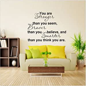 Wall Decal Stickers Paper You Are Stronger Quote Vinyl Removable Art Mural Home Decor By FamilyMall