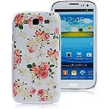 VCOER für Samsung GALAXY S4 SIV i9500 Blumen Hülle kleine Blütenblätter Muster Farbe design Dekoration PC tasche / Schutzhülle / Cover / PC Skin / Case Handy Tasche - Design aus PC