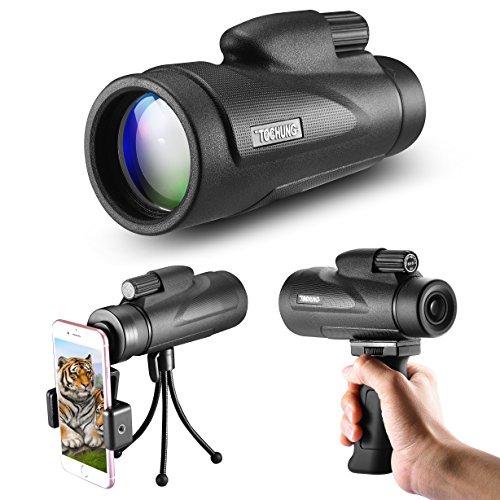 nokulares Hochleistungsteleskop mit Weitwinkelansicht und HD Zoom View, Wasserdicht, Mini Nachtsicht, optimal geeignet für Vogelbeobachtung/Jagd/Outdoor/Camping (Teleskop-objektiv)