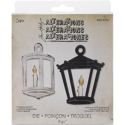 Sizzix Bigz - Fustella, motivo: lanterna, circa 14 x 15 cm, design di Tim Holtz