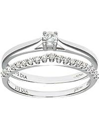 Naava - Anillo para Mujer de Oro 9K con Diamantes