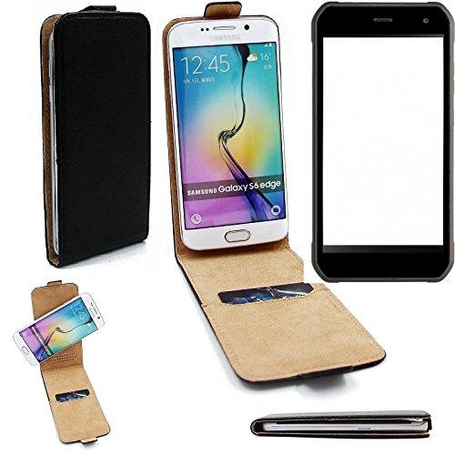 K-S-Trade Für Cyrus CS 40 Flipstyle Schutz Hülle 360° Smartphone Tasche, schwarz, Case Flip Cover für Cyrus CS 40