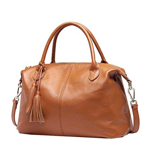 Borse In Pelle Yy.f Il Primo Strato Di Mano In Pelle Borsa Messenger Nappa Fashion Casual Nuovo 3 Colori Brown