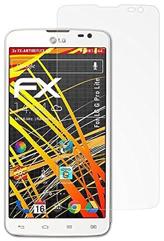 LG G Pro Lite Displayschutzfolie - 3 x atFoliX FX-Antireflex-HD hochauflösende entspiegelnde Schutzfolie Folie