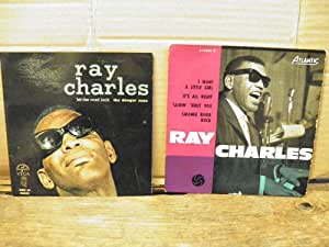 Lot de 2 vinyles 45 tours de Ray Charles - hit the road jack -The danger zone - disque Vega n° ABC 45 90886 it's all right / I want a little girl / Talkin about you / Swanee Rive Rock - disque atlantic 45 EP
