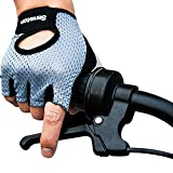 Senston Weight Lifting Gym Fitness Cycling Gloves with Wrist Wrap and Grip - For Men's and Women's - Half-Finger Design Padded Breathable Washable Quality Material