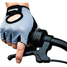 Senston ANTI-SLIP Guantes de Ciclismo Medio Dedos Guantes Bicicleta de Invierno MTB, Crossfit, Motos,Escalada,Guantes de Gimnasio para Hombres & Mujeres,Gris
