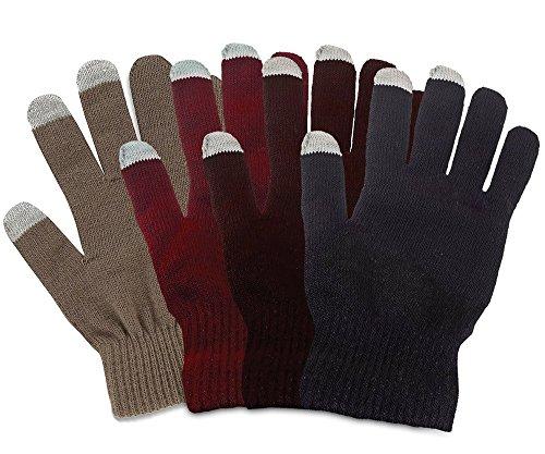 Touchscreen-Handschuhe für Herren und Damen für kapazitive Displays, Smartphones und Tablets (Braun)