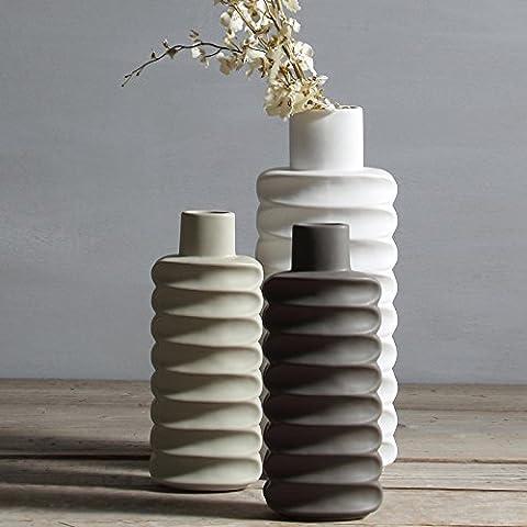 Strisce di ceramica lungo party boutonniere bottiglia, ufficio mobili TV set di 3