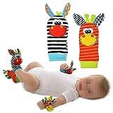 1Paar Baby-Socken Spielsocken / Rasselsocken, niedliches Tier-Design, Plüsch