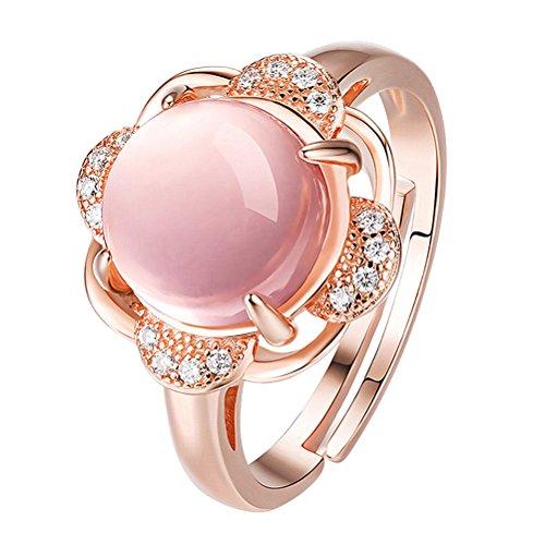 Fenical Offener Ring Rose Gold Verstellbarer Ring für Frauen Mädchen Lover Daugther