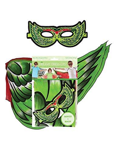 Dreamy Dress-Ups 66087Vogel Flügel Plus Maske Spielset, grün, - Vögel Flügel Kostüm