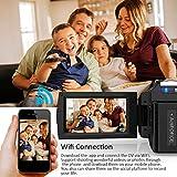 Docooler Andoer 4K 48MP WiFi Digital Video Camera+External Microphone+0.39x Wide Angle Lens+Mini LED Video Light+2pcs Battery+Camera Bag