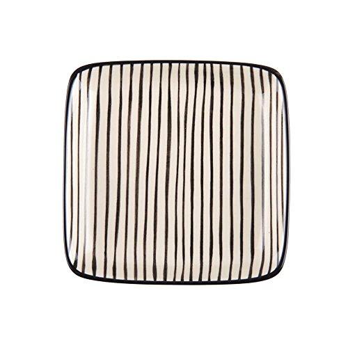 IB Laursen Casablanca Noir Petit Assiette Carré Stripes