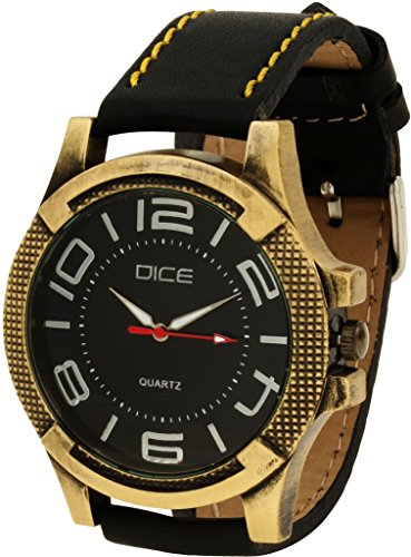 Dice Men's Analogue Black Dial Watch - BRS-B003-0705