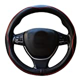 Universal Echtes Leder-lenkrad Abdeckung 38 cm 15 zoll Auto Steering