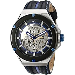 Adee Kaye Men's AK2240-M/BU Le Gear Analog Display Automatic Self Wind Blue Watch