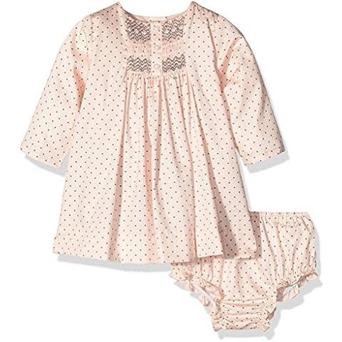 Gocco Lunares con Nido DE Abej, Vestido para Bebés