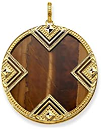 "Thomas Sabo ""Africa Triangle Gold Plated Yellow Gold/Tiger's Eye Pendant PE748-887-2"