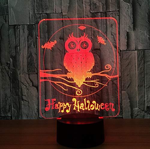 3D LED Lampe 7 Farben Visuelle Led-nachtlichter für Kinder Touch USB Tisch Lampara Lampe Baby Schlafen Nachtlicht, Sieben-farbige Note ()