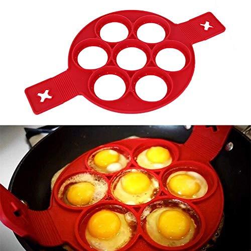 Küche Backzubehör Antihaft-Kochwerkzeug zur Herstellung von Eiringen Silikonform Backformen Pancake Käse-Eiertopf Flip