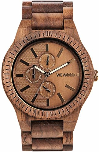 WeWood Multifunktion Holzuhr Kos Nut Bronze WW30004