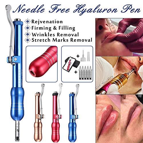 Hyaluron Pen Guns - Sans aiguille - Ride Suppression Raffermissant Lèvre Améliorer Sans douleur Eau Atomiseur Ajustable Pression Acide Armes à feu,Blue