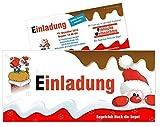 Lustige, Witzige Einladungskarten für Geburtstag Weihnachten - kostenloser Eindruck Ihres Textes - 10 Stück, DIN lang 210 x 99 mm