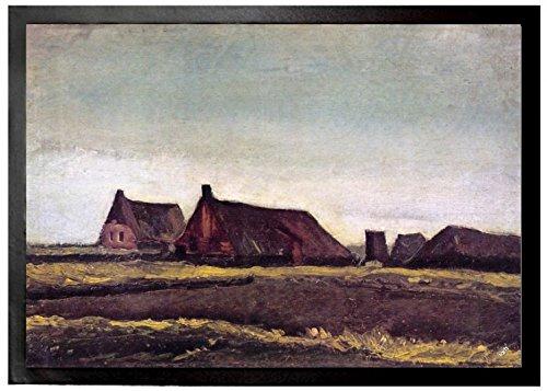 Vincent Van Gogh - Casas De Campo, 1883 Felpudo Alfombrilla (70 x 50cm