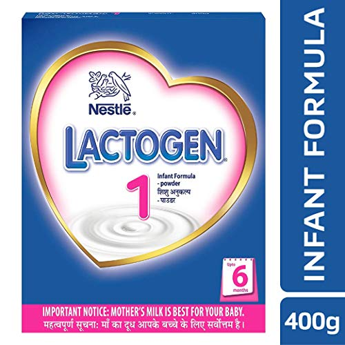 Nestle Lactogen 1 Infant Formula Powder, Upto 6 months, 400g Pack