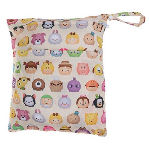 Baoblaze 2er Pack Windeltasche Wickeltasche Pamperstasche Windeletui Babytasche Kulturtasche Kosmetiktasche Waschtasche