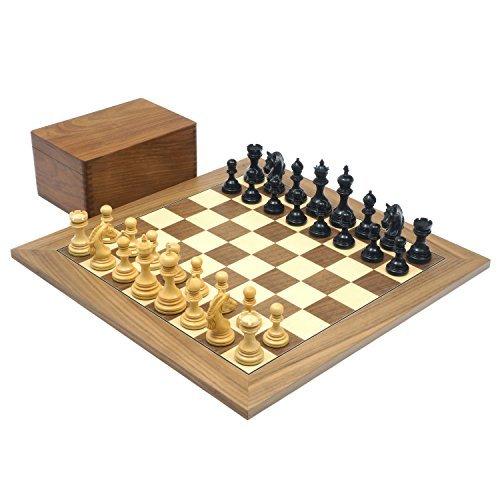 Die garvi Ebenholz und Walnuss Luxus Schach Set