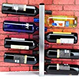 ZWJ Weinregale Weinregal Weinbar Zeitgenössisch 8 Flaschen Metall Wandmontiert, Weinflaschenregal, Horizontale Weinflaschenregal