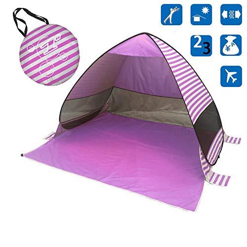 matische Faltbare freie Strand Schatten Zelt Open Speed   Outdoor-Druckstreifen, lila_200X165X130CM ()